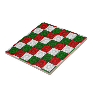 TEJA Esquina-Rojo-Blanco-Verde-DE CERÁMICA plisada