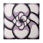 Teja, flor abstracta 3, púrpura de la lavanda