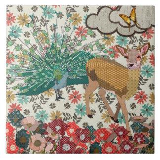 Teja floral color de rosa de oro de los ciervos y