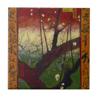 Teja floreciente del árbol de ciruelo