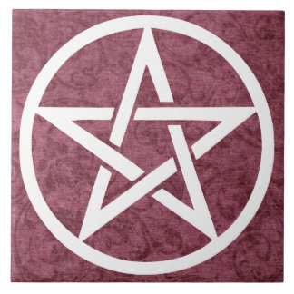 Teja grande del altar - púrpura del pentáculo para