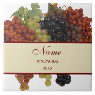 Teja grande personalizada Trivet del vino