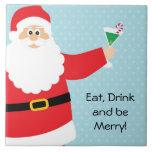 Teja grande Trivet del navidad divertido