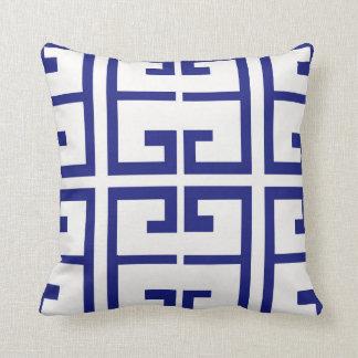 Teja griega azul cojín decorativo
