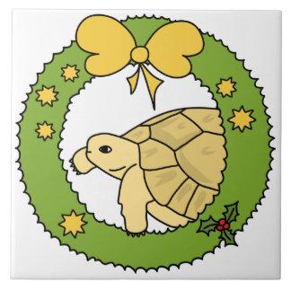 Teja griega del navidad de la tortuga (guirnalda)
