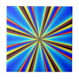 Teja hermosa del arte abstracto: Starburst azul 1