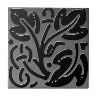 Teja inspirada céltica # mirada gris del acero