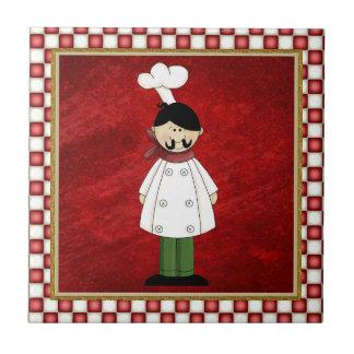 Teja italiana de la cocina del cocinero