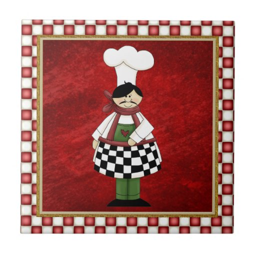 Teja italiana del cocinero