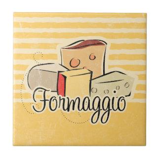 Teja italiana Trivet del queso