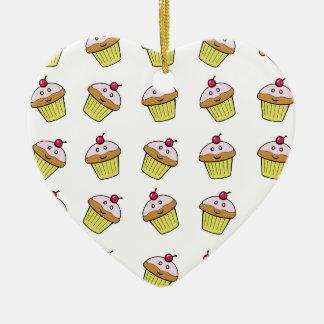 teja linda de la magdalena adorno de cerámica en forma de corazón