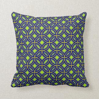 Teja marroquí eléctrica del verde azul modelada cojines