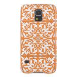 Teja marroquí - naranja coralino y blanco funda de galaxy s5