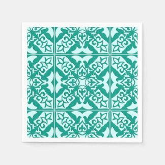 Teja marroquí - turquesa y aguamarina servilletas de papel
