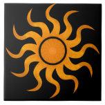 Teja negra de oro de Sun - grande