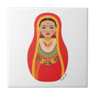Teja nepalesa de Matryoshka de la novia