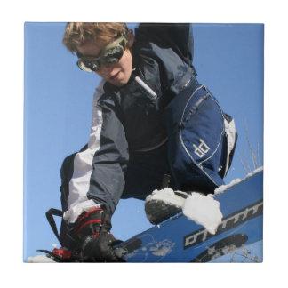 Teja o Trivet de la snowboard del adolescente