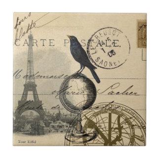Teja o Trivet de París del globo del cuervo