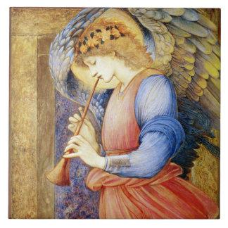 Teja o Trivet del ángel del navidad de Burne-Jones