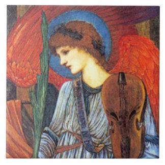 Teja o Trivet del arte del navidad de Burne-Jones