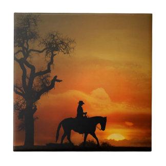 Teja occidental del arte del caballo