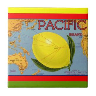 Teja pacífica de la etiqueta del cajón del limón d
