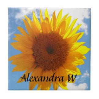 Teja personalizada amarilla brillante del cielo az