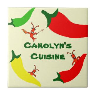 Teja personalizada pimiento picante de los cangrej