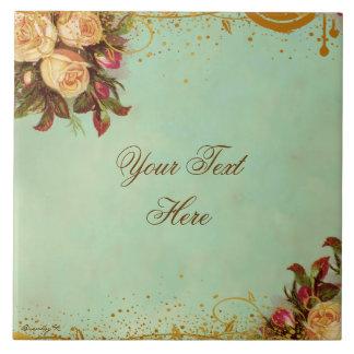 Teja personalizada rosa del arte del Victorian