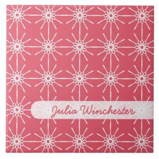 Teja personalizada Starburst rosada de la frambues