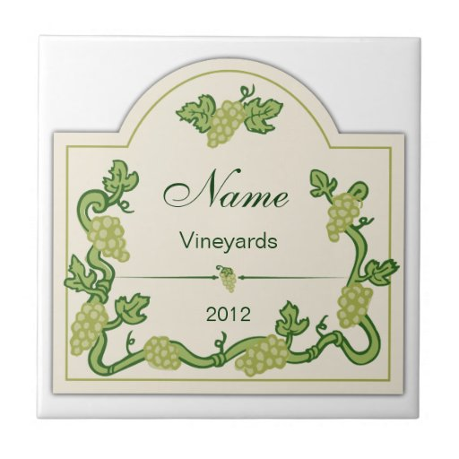 Teja personalizada Trivet de la etiqueta del vino