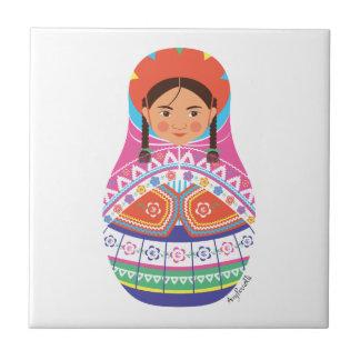 Teja peruana de Matryoshka del chica