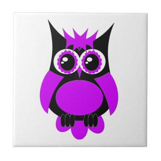 Teja punky púrpura del búho