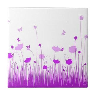 Teja púrpura de las amapolas