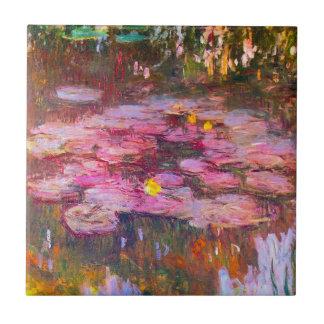 Teja púrpura de los lirios de agua de Monet