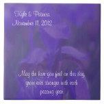 Teja púrpura del boda de la flor del iris