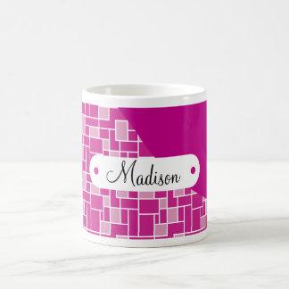 Teja púrpura magenta conocida personalizada taza clásica