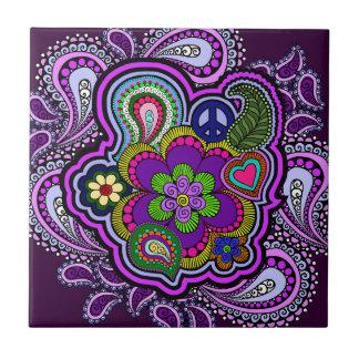 Teja púrpura psicodélica de Paisley