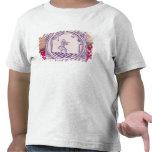 Teja que representa a un clarinetist, 1706 camiseta