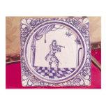Teja que representa a un clarinetist, 1706 postal