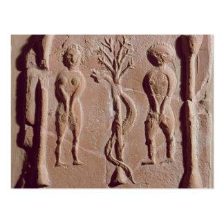 Teja que representa Adán y a Eva, romanos Postales