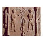 Teja que representa Adán y a Eva, romanos Tarjeta Postal