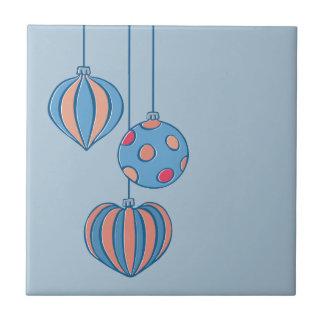 Teja retra del azul de las bolas del navidad