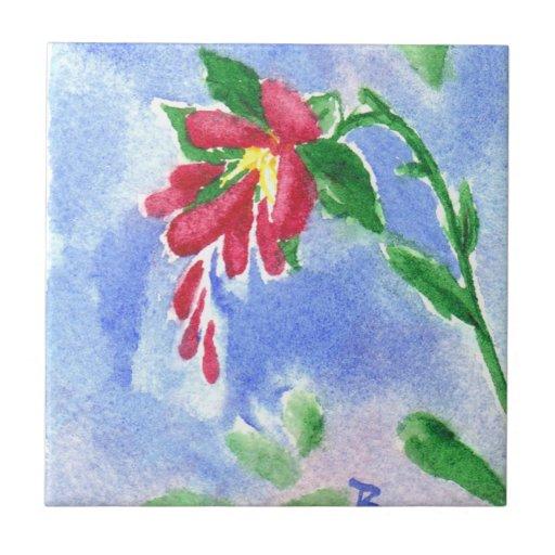 Teja roja de la flor del amor