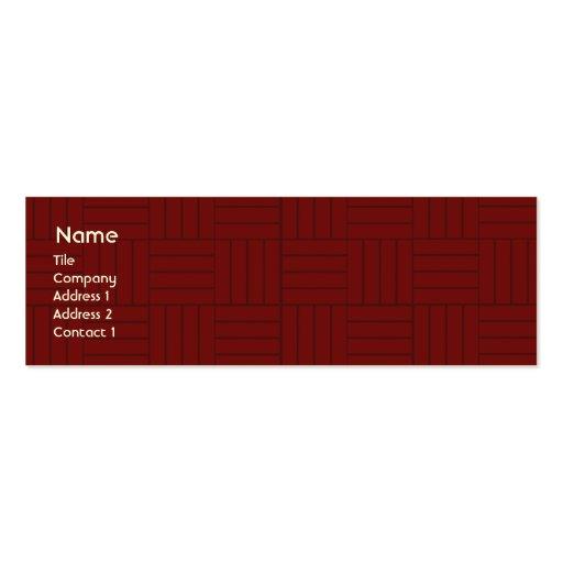 Teja roja - flaca plantillas de tarjetas de visita