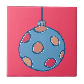 Teja roja redonda de las bolas retras del navidad
