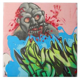 ¡Teja sangrienta de la pintada de Atlanta del zomb Azulejo Cuadrado Grande