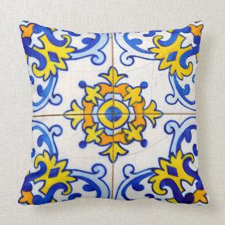 Teja tradicional de Azulejo del portugués Cojín