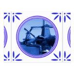Teja tradicional del azul de Holanda Delft de los  Postales