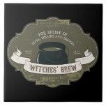Teja Trivet de Halloween del Brew de las brujas